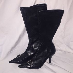 """2 1/4""""  Heel BOOTS with buckle detail"""